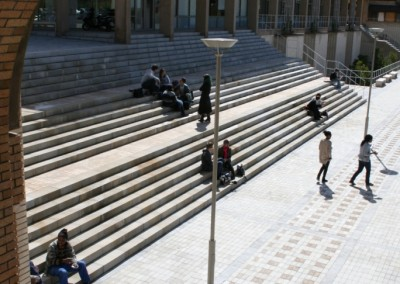 UCT middle campus steps and paving